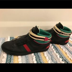 MEN'S ACE GUCCI STRIPE HIGH-TOP SNEAKER